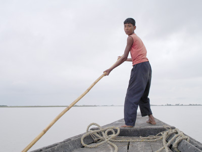 Bangladesh Boy on Boat