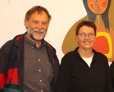Henk and Jeanet at the Indigenous Family Centre