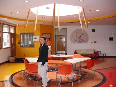 Tipi Skylight Inside Indigenous Family Centre