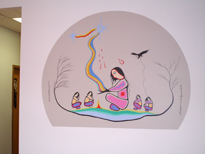 Smudge Painting at Indigenous Family Centre